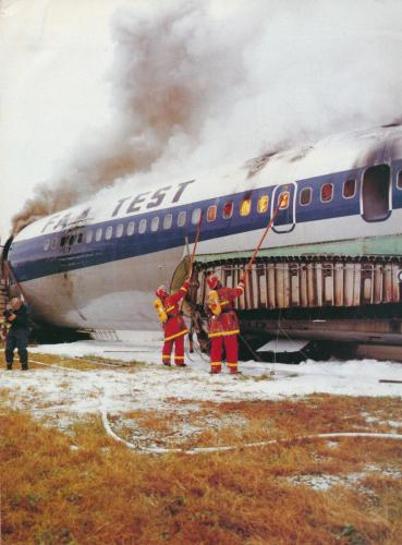 G-APFC being burnt up