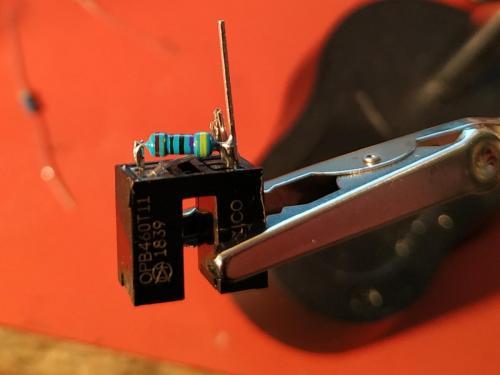 Transmissive optoschmitt sensor